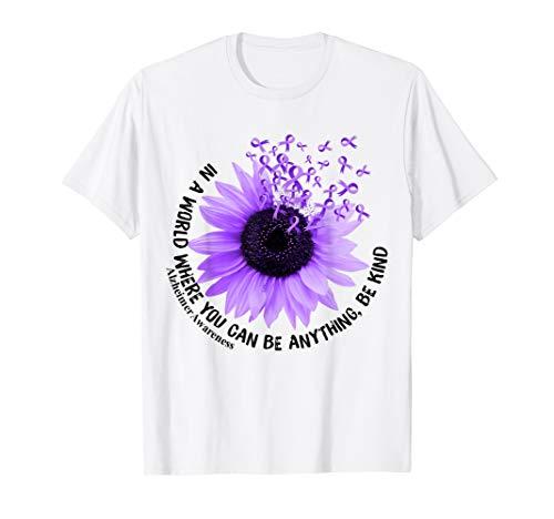 Flower Be Kind Shirt Funny Alzheimer Awareness  ()