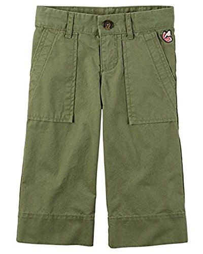 Carters Toddler Girls Capris With Embroidered Butterfly - Khaki Green (4T, Khaki Green) ()