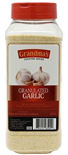 Top Quality Premium Garlic Granulated - 20oz - Gourmet Grade - 100% Cleaned and Processed in the USA