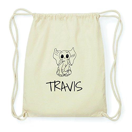 JOllipets TRAVIS Hipster Turnbeutel Tasche Rucksack aus Baumwolle Design: Elefant 7GZIo4F