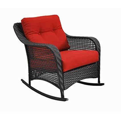 Mainstays Briar Creek Wicker Outdoor Rocking Chair