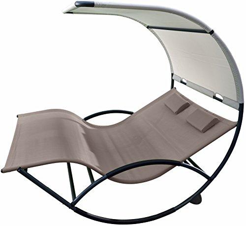 Vivere Aluminum Double Chaise Rocker, Cocoa ()