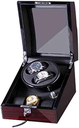ZGQA-GQA 回転静かなモータープレミアムソリッドウッドエクステリアとソフト柔軟で自動ウォッチワインダー収納ディスプレイケースボックス 表盒
