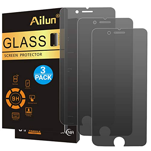 Protector Black Phone - Ailun Privacy Screen Protector Compatible with iPhone 8 7,Anti-Spy,[3 Pack],2.5D Edge Tempered Glass Compatible with iPhone 8/7,Anti-Scratch,Case Friendly