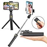 Best Compact Selfie Sticks - Selfie Stick Tripod with Bluetooth Wireless Remote, 3 Review