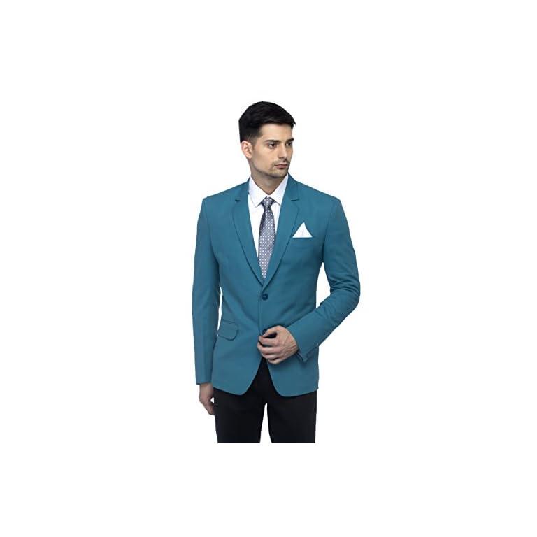 418q2Hw6p3L. SS768  - FAVOROSKI Men's Blazers - Turkish Green
