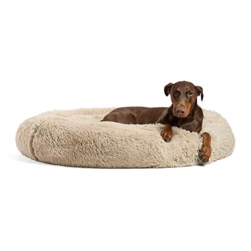 Best Friends by Sheri Calming Shag Donut Bed