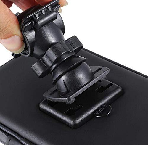 LANKELEISI Support V/élo T/él/éphone Etanche Support Fixation Guidon Sac de Cadre de V/élo Support T/él/éphone Moto avec Rotation 360/° pour Guidon de V/élo VTT Moto