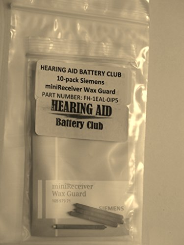 Siemens miniReceiver Wax Guard (10 pack of individual filters) (Siemens Hearing Aid Receivers)