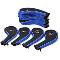 Z-zone 1PCS A Set of 10Pcs Golf Iron Headcover Golf Club Cover Sleeve Protective Case 6Color