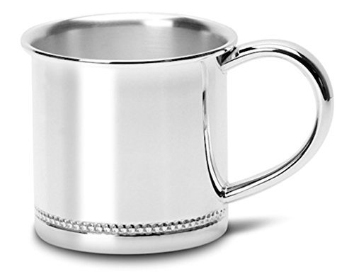 Cunill Silver Bead Baby Cup in Silver Plate, Large Size