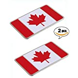 Canadian Flag Maple Leaf Aluminum Alloy Badge Emblem Car Sticker Fender 80mm x 50mm By: DSRG
