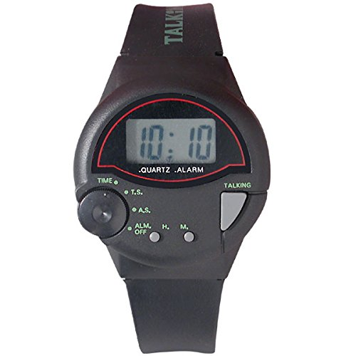Tel-Time IV Spanish Talking Watch - Unisex- Black