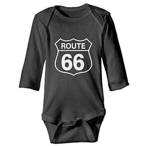 Gmdfnjing Route 66 Long Sleeve Bodysuits Rompers Outfits