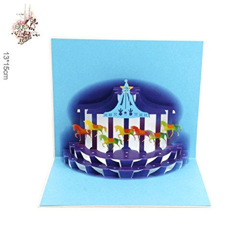 Heliyan Cards Halloween Day 3D Dream Pleasure Ground Pop Up Gift Happy Birthday Greeting Vintage Postcards 10Pcs]()