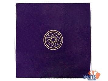 Tapis de voyance violet symbole de Mercure