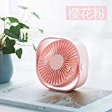 DeemoShop Mini USB Fan Desktop Portable Dorm Room Office Vibrating Hand Chargeable Mute Shaking Head Table Fans
