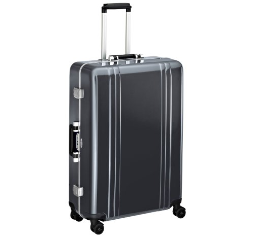 Zero Halliburton Classic Polycarbonate 28 Inch 4 Wheel Spinner Travel Case, Gunmetal, One Size