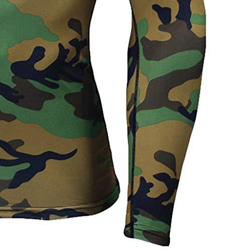Longues Rapide Moulant Fitness Gym À Camouflage Combinaison Solike Musculation Manches De Sport shirt Tops Pantalon Ensemble T Homme Séchage SExPwBEqOf