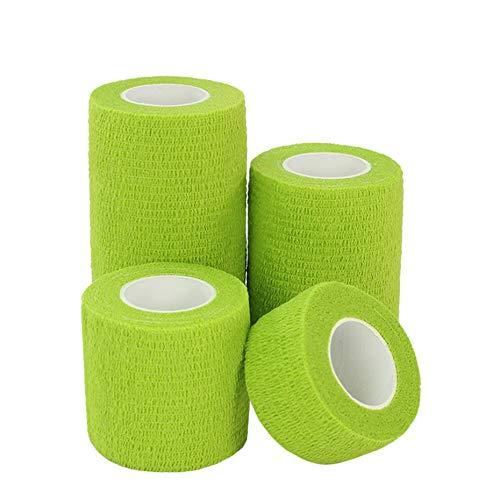 Verde Panamami Vendajes el/ásticos no Tejidos autoadhesivos Envoltorios cohesivos para Tratamiento de heridas de Emergencia