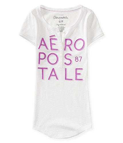 Aeropostale Womens Stacked Thermal Henley Shirt 102 L ()