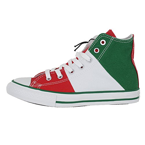 KIDS CONVERSE ALL STAR HI TRI PANEL MEXICO SHOES GREEN WHITE RED SIZE 3 - Image 1