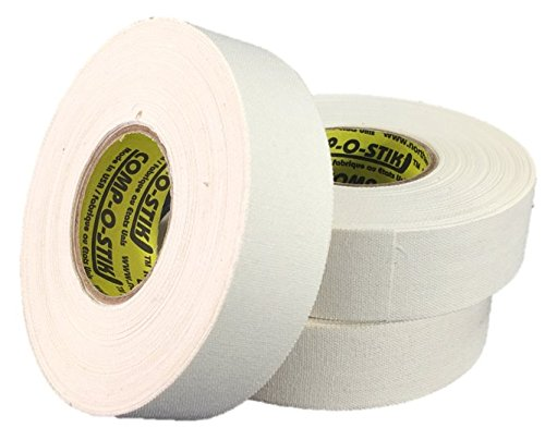 3 Rolls of Comp-O-Stik WHITE Hockey Lacrosse Bat Cloth Stick Tape ATHLETIC TAPE (3 Pack) Made In The U.S.A. 1'' X 25 yds by Comp-O-Stik