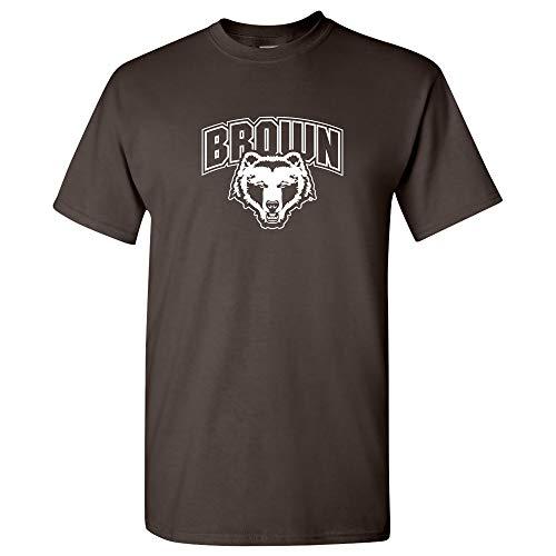 (UGP Campus Apparel AS03 - Brown University Bears Arch Logo T-Shirt - 3X-Large - Dk)