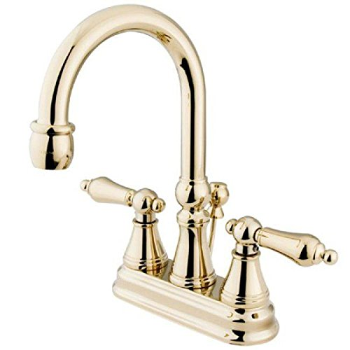 Madison Faucet Chrome Polished (Madison Centerset Bathroom Faucet with Double Lever Handles Finish: Polished Brass)
