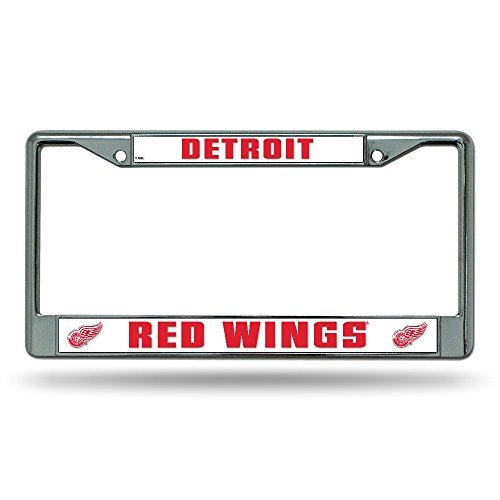 (Rico Industries NHL Detroit Red Wings Standard Chrome License Plate Frame)