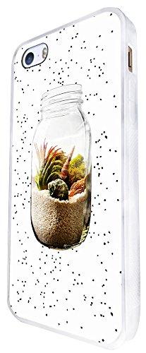 609 - Sand In A Jar Beach Design iphone SE - 2016 Coque Fashion Trend Case Coque Protection Cover plastique et métal - Blanc
