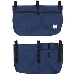 Handi Pockets 2b7rb Storage Accessory Walker, Cordura, Royal Blue with Zipper and Flap