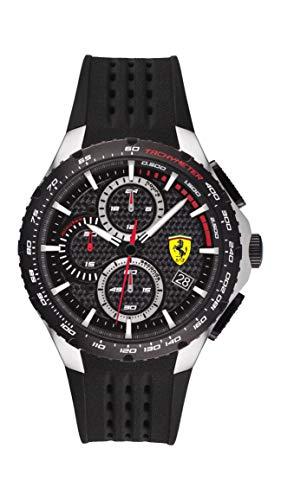 Scuderia Ferrari Pista Analog Black Dial Men #39;s Watch 0830732
