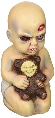 Forum Novelties Evil Baby with Teddy Bear Halloween Prop (Halloween Zombie Babies)