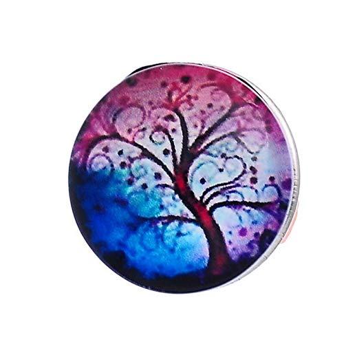 1PC Snap Button Fit DIY Bracelets Life Tree Pattern 18mm (Style - #1)