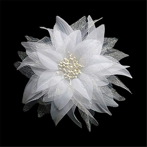 (MOPOLIS P Bridal Flower Hairpin Wedding Bridesmaid Party Accessories Child Hair Clip | Color - White)