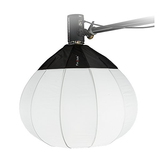 Fotodiox Lantern Softbox 32in (80cm) Globe - Collapsible Globe Softbox with Norman 900 Speedring for Norman 900, Norman LH and Compatible