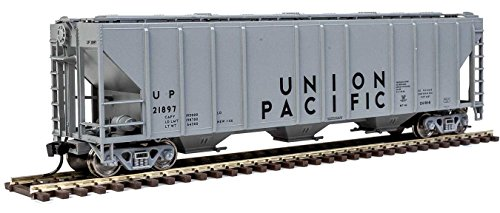 - 54' PULLMAN-STANDARD 4427 CD COVERED HOPPER - READY TO RUN -- UNION PACIFIC(R) 21897 (GRAY, BLACK)