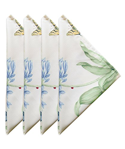 Lenox Butterfly Meadow Blue Set of 4 Napkins, 4 Piece ()