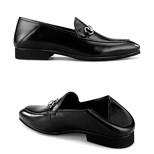 Zapatillas Mocasines Vestido De De Genuino Shoe Black Barcos para Formal Cuero Slip Deck Conducción MERRYHE On For Men Monk Shoe Walking Business Planas avzWHx