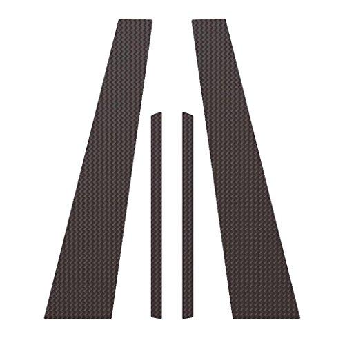Ferreus Industries Carbon Fiber Pillar Post Trim Cover fits: 2011-2014 VW Jetta 4 Door Sedan PIL-034-CF