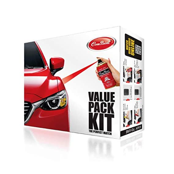 Com-Paint Scratch Remover Value Pack kit for Honda Cars - Alabaster Silver