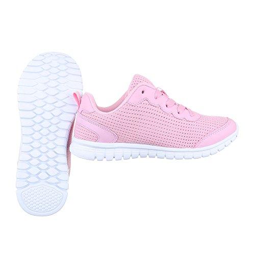 Ital-Design - Zapatillas de Material Sintético para mujer Rosa