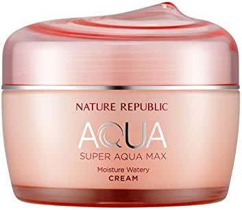 Nature Republic Super Aqua Max Moisture Watery Cream for Dry Skin, 80 Gram
