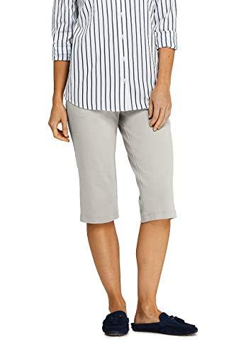 Lands' End Women's Petite Sport Knit Elastic Waist Pull On Capri Pants