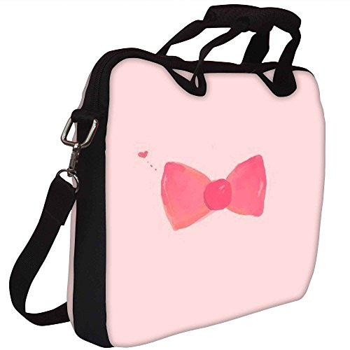 Snoogg Hand gezeichnete rosa Bogen Gedruckt Notebook-Tasche mit Schultergurt 15 bis 15,6 Zoll