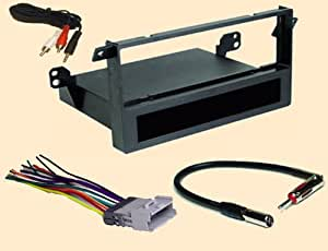 radio stereo install single din dash kit wire harness antenna adapter for toyota matrix 2003