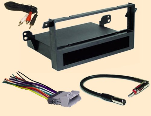 2005 pontiac vibe stereo wiring harness 2005 image amazon com radio stereo install single din dash kit wire on 2005 pontiac vibe stereo wiring
