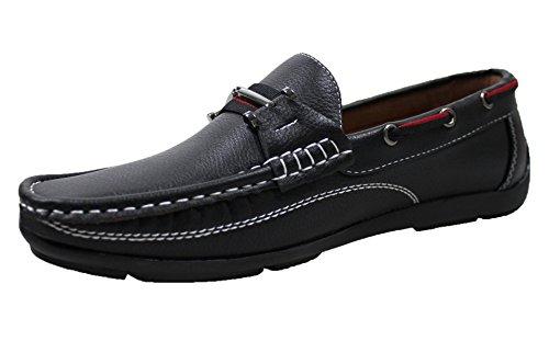 45 shoes Nero scarpe ecopelle casual Mocassini 40 man's da a estivi uomo vxXqF7