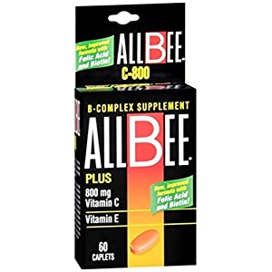 Allbee B Complex Supplement With Vitamin E And Vitamin C-800 Mg Caplets 60 Ea by Allbee